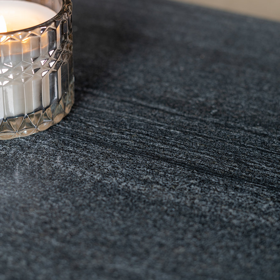 Salontafel marmer Roxy 94 x 38 cm zwart