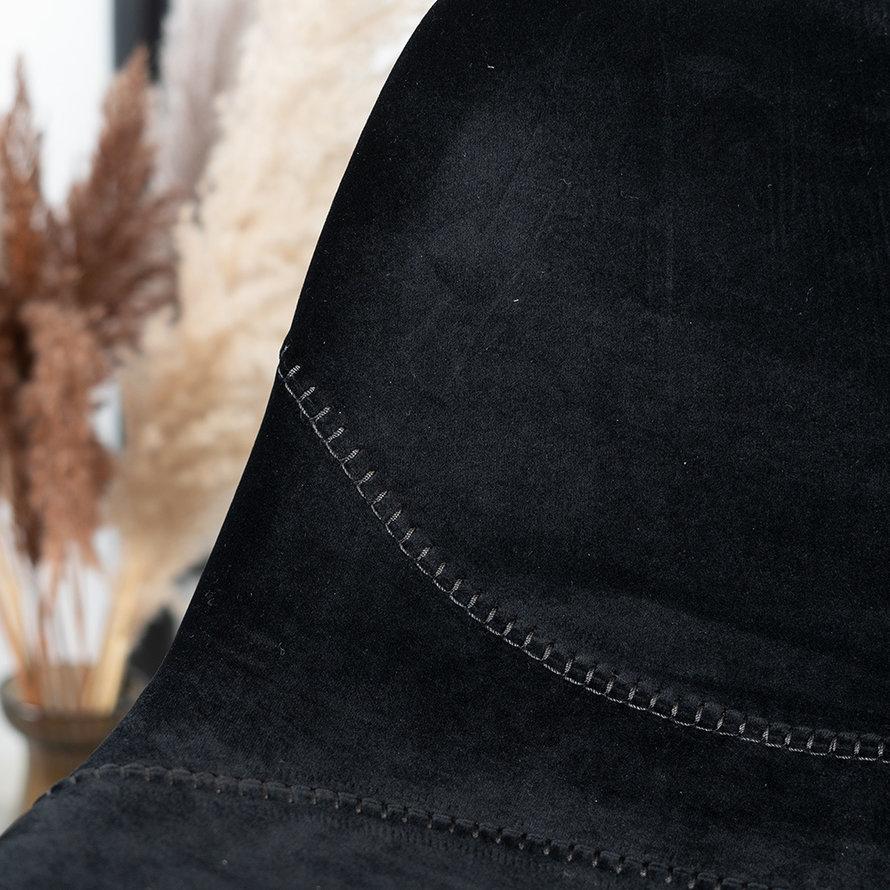Horeca barkruk Logan zwart velvet 70 cm