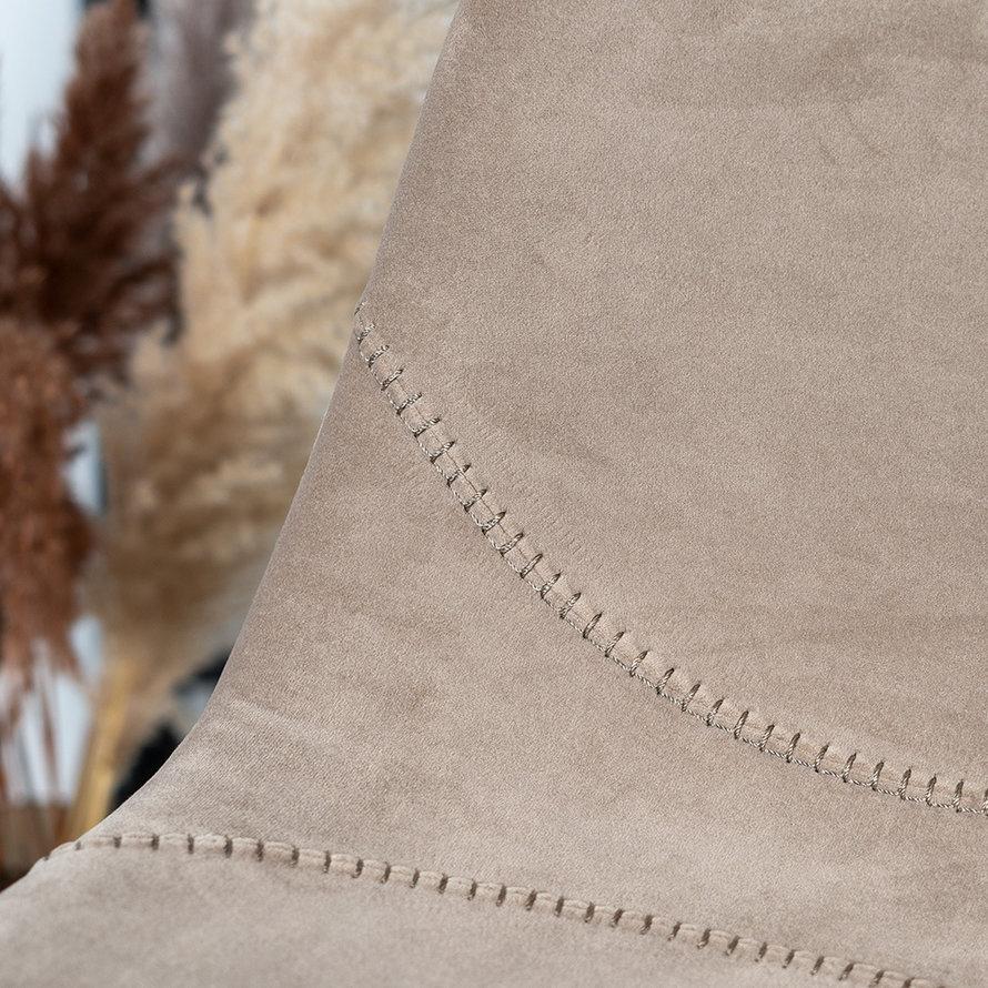 Horeca barkruk Logan taupe velvet 70 cm