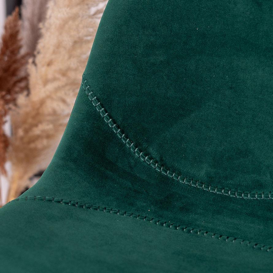Horeca barkruk Logan donkergroen velvet