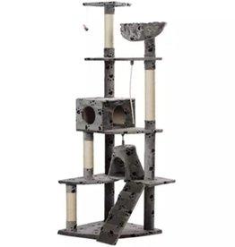 vidaXL Kattenkrabpaal Jaapie 191 cm (grijs) met pootafdrukken