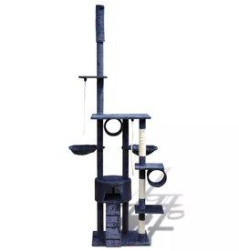vidaXL Kattenkrabpaal Tommie 220/240 cm 1 huisje (donkerblauw)