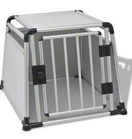 vidaXL Hondentransportbox L aluminium