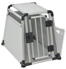 vidaXL Hondentransportbox M aluminium