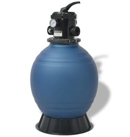 vidaXL Zwembadzandfilter met 6-positie ventiel 460 mm blauw