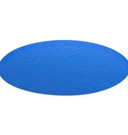 vidaXL Zwembadzeil rond 549 cm PE blauw