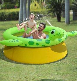 Jilong Opblaasbaar zwembad schildpad + sproeifunctie 175x62 cm 1270 L