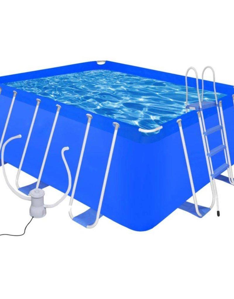 Zwembad Met Pomp.Vidaxl Zwembad Met Ladder En Pomp Staal 400x207x122 Cm