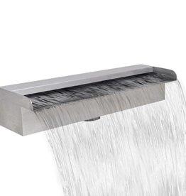 vidaXL Waterval voor vijver/zwembad vierkant 45 cm RVS