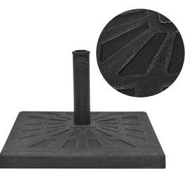 vidaXL Parasolvoet vierkant 19 kg hars zwart