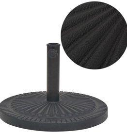 vidaXL Parasolvoet rond 14 kg hars zwart