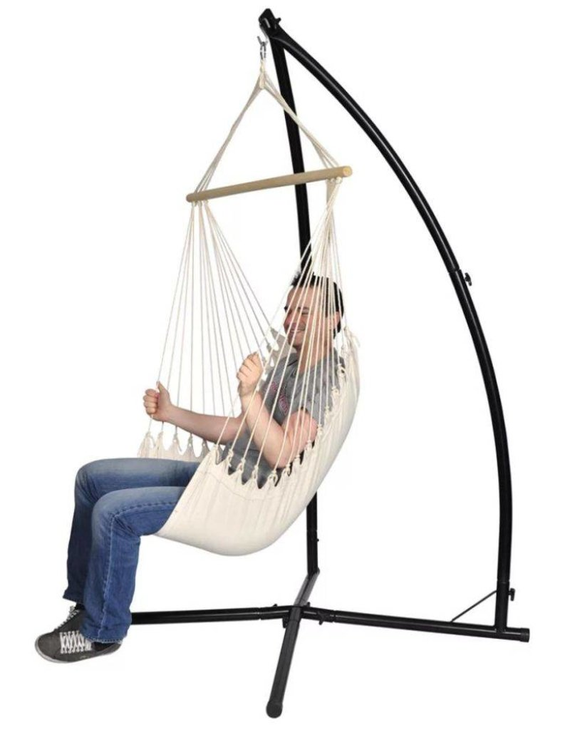 Hangstoel Met Parasol.Vidaxl Hangstoel Met Standaard Creme Tuinshop Bluegreen Nl