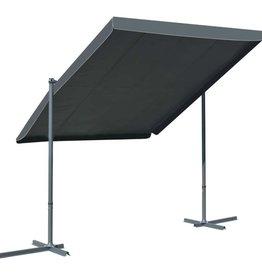 vidaXL Prieel met kantelbaar/intrekbaar dak 350x250x225 cm antraciet