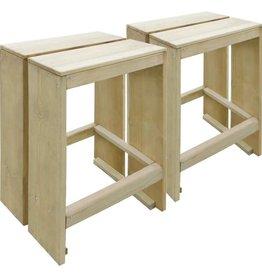 vidaXL Tuinbarkrukken 2 st FSC geïmpregneerd grenenhout