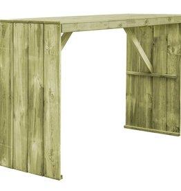 vidaXL Bartafel 170x60x110 cm FSC geïmpregneerd grenenhout