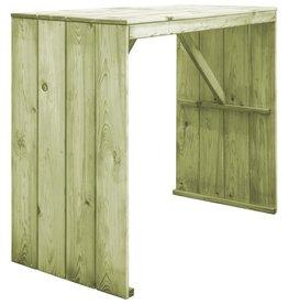 vidaXL Bartafel 130x60x110 cm FSC geïmpregneerd grenenhout