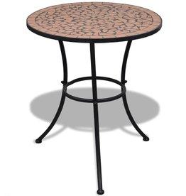 vidaXL Bistrotafel 60 cm mozaïek terracottakleur