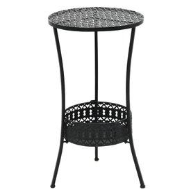 vidaXL Bistrotafel vintage stijl rond 40x70 cm metaal zwart