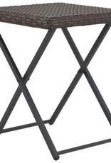 vidaXL 5-delige Tuinset inklapbaar poly rattan bruin