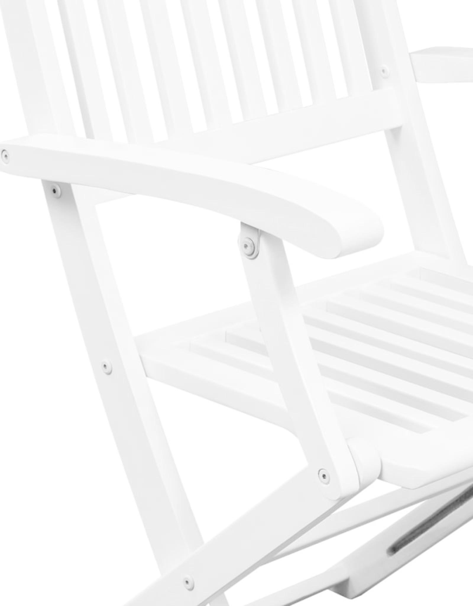 vidaXL 5-delige Tuinset massief acaciahout wit