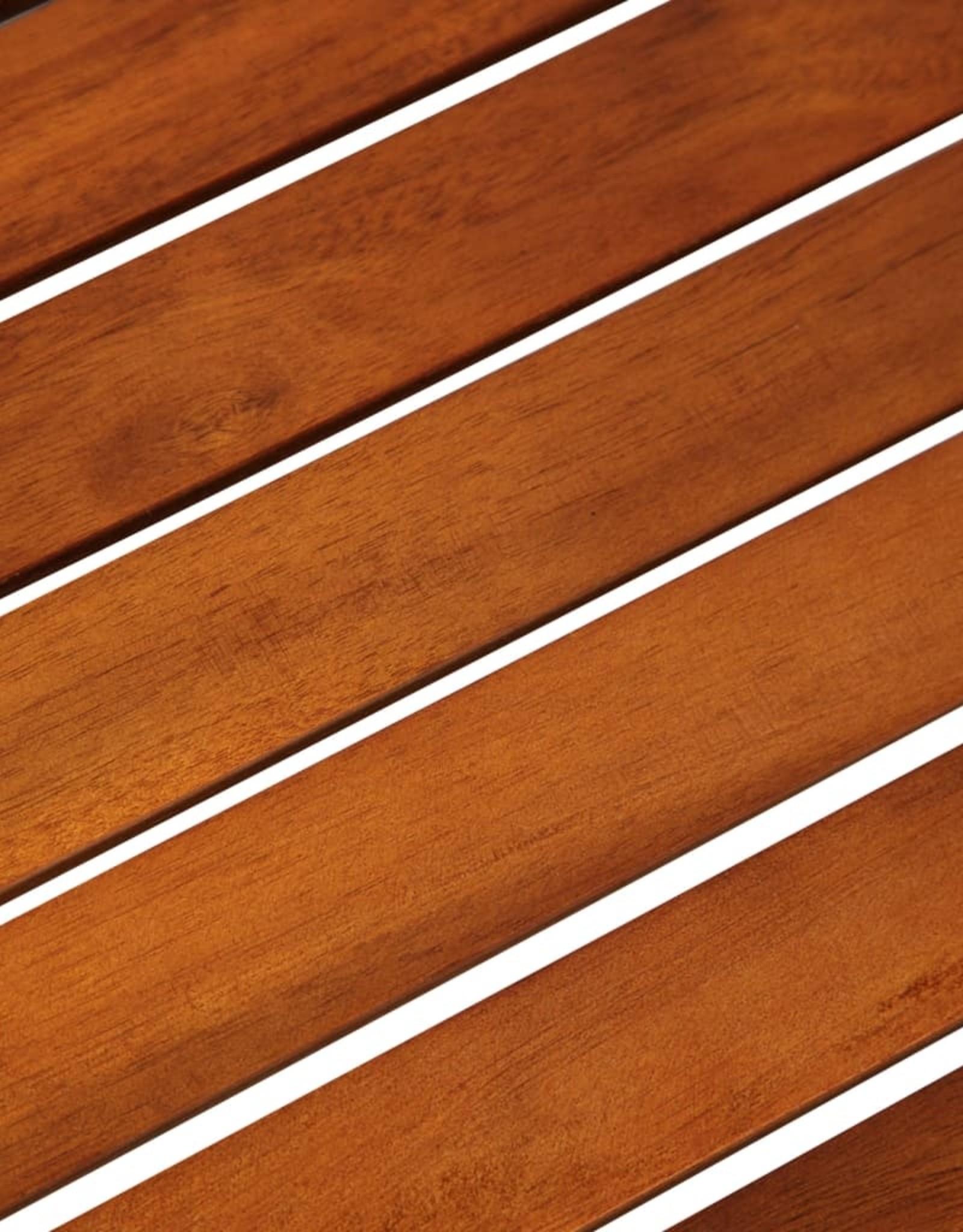vidaXL 3-delige Bistroset poly rattan en acaciahout zwart