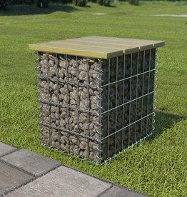vidaXL Tuinkruk 40x40x45 cm gegalvaniseerd staal en grenenhout
