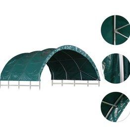 vidaXL Veetent 3,7x3,7 m PVC groen