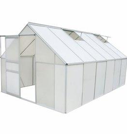 vidaXL Broeikas polycarbonaat en aluminium 371x250x195 cm
