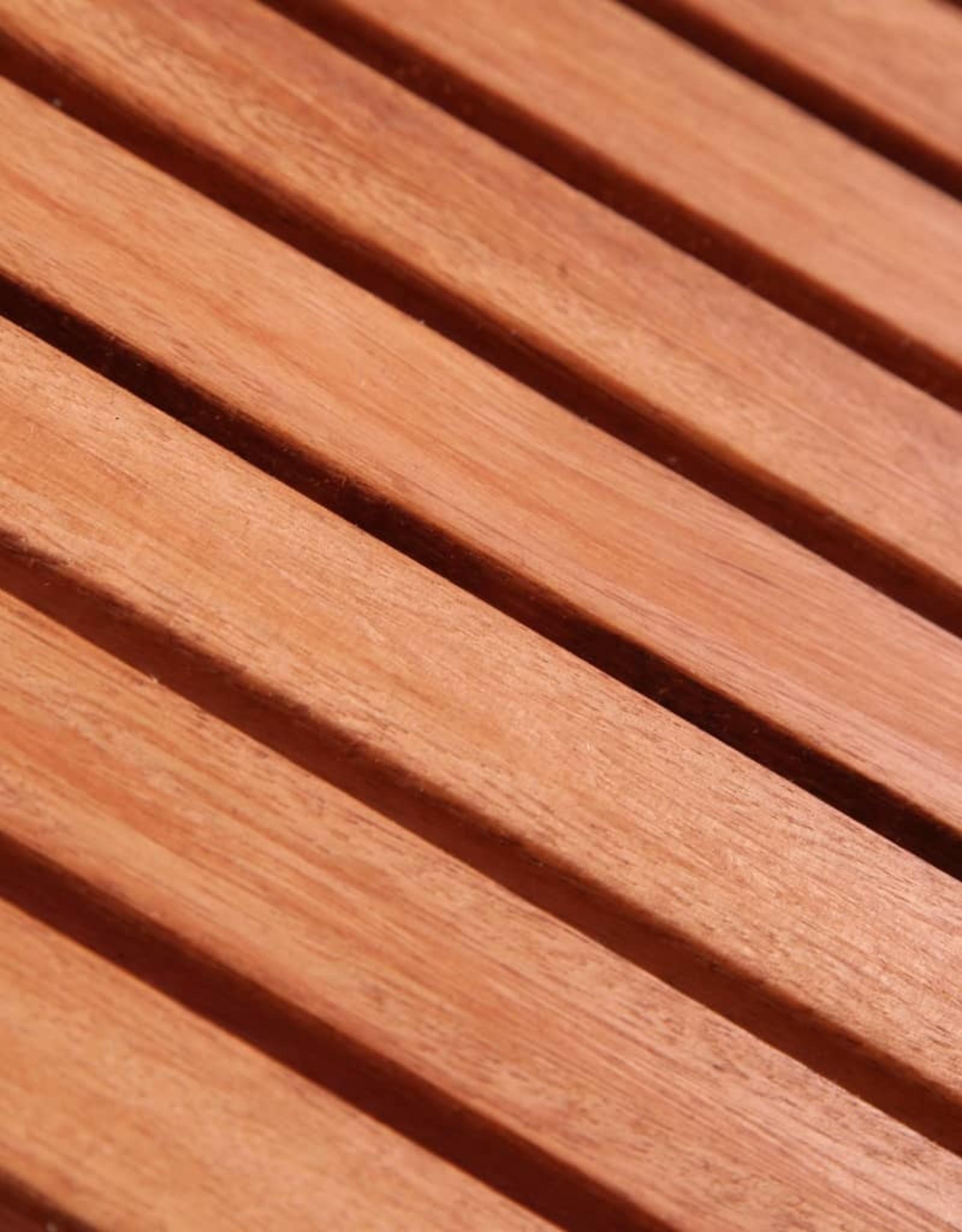 vidaXL 5-delige Tuinset massief eucalyptushout en textileen