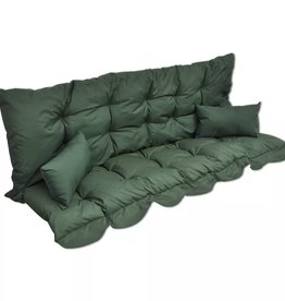 vidaXL 4-delige Kussenset voor schommelstoel stof groen