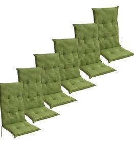 vidaXL Tuinkussens 6 st 117x49 cm groen