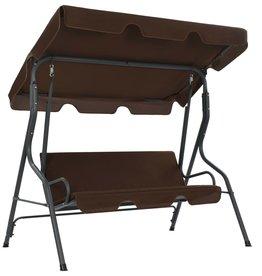 vidaXL Tuinschommelstoel 170x110x153 cm koffiekleurig