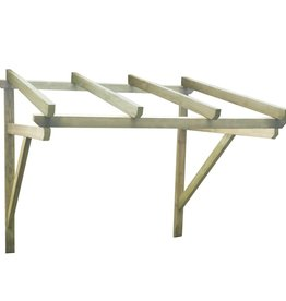 vidaXL Deurluifel 150x150x160 cm FSC hout