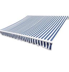 vidaXL Luifeldoek 500x300 cm canvas blauw en wit
