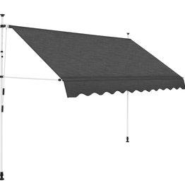 vidaXL Luifel handmatig uitschuifbaar 250 cm antraciet