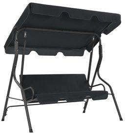 vidaXL Tuinschommelstoel 170x110x153 cm antraciet