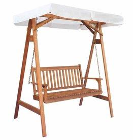 vidaXL Tuin schommelstoel met luifel eucalyptus acaciahout