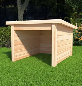 vidaXL Overkapping voor grasmaaier 92x104x59,5 cm massief grenenhout 19 mm
