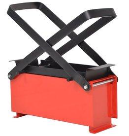 vidaXL Brikettenpers voor papier 34x14x14 cm staal zwart en rood