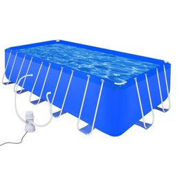 vidaXL Opbouwzwembad met stalen frame en pomp 540 x 270 x 122 cm