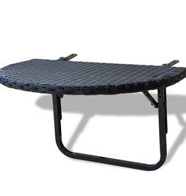 vidaXL Balkontafel 60x60x32 cm poly rattan zwart