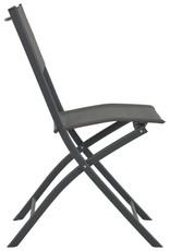 vidaXL 5-delige Tuinset inklapbaar staal en textileen grijs
