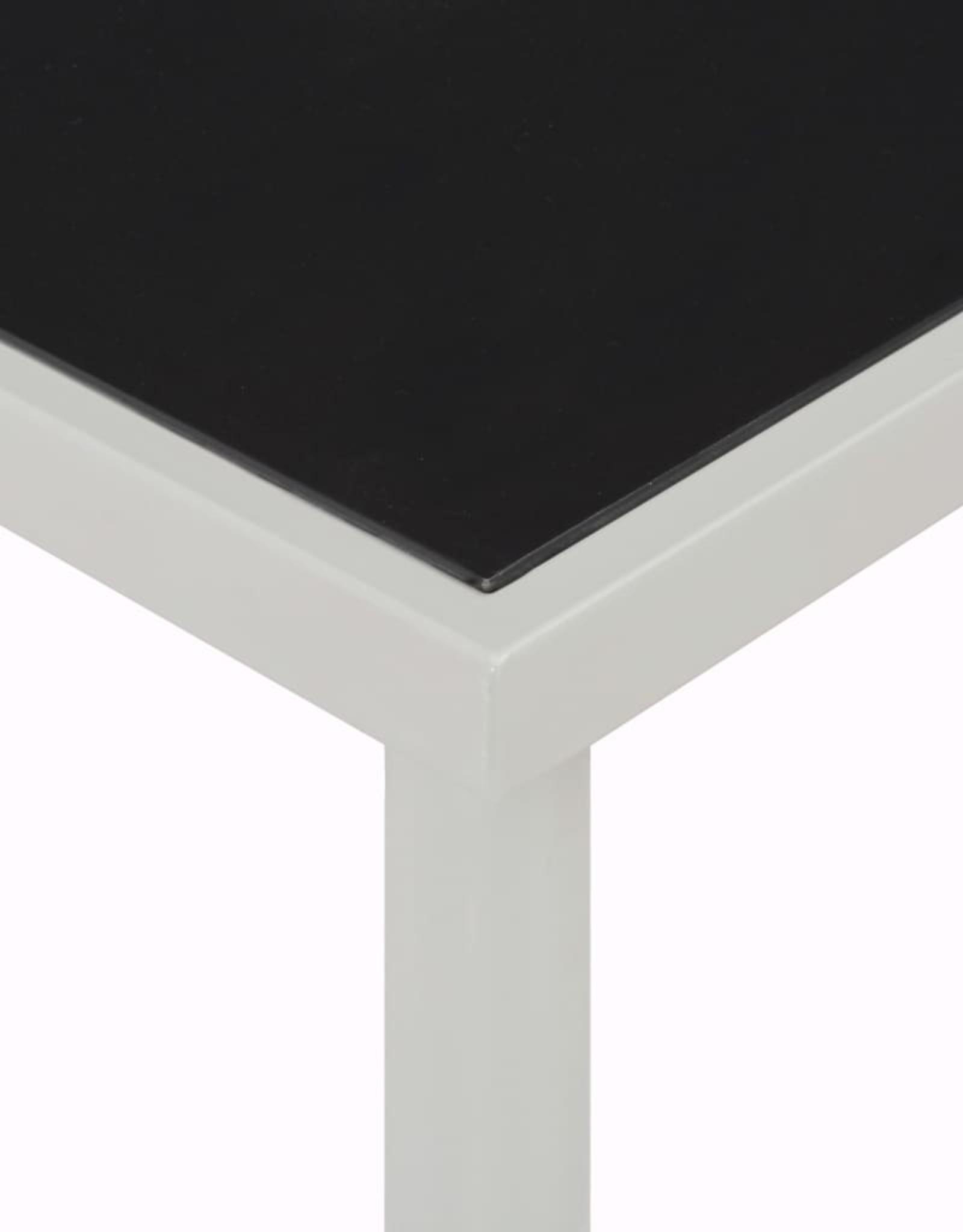 vidaXL 11-delige Tuinset staal en textileen zwart