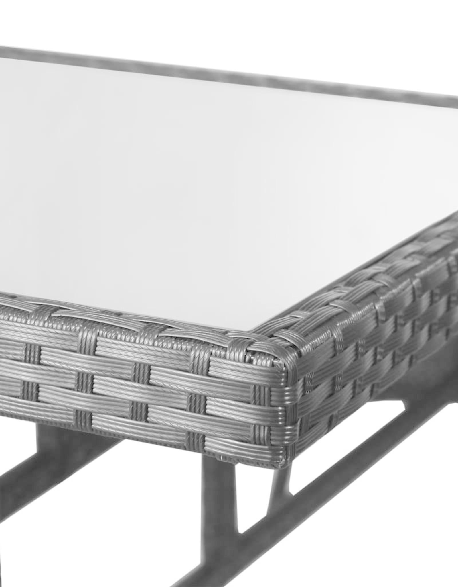vidaXL 5-delige Tuinset poly rattan zwart