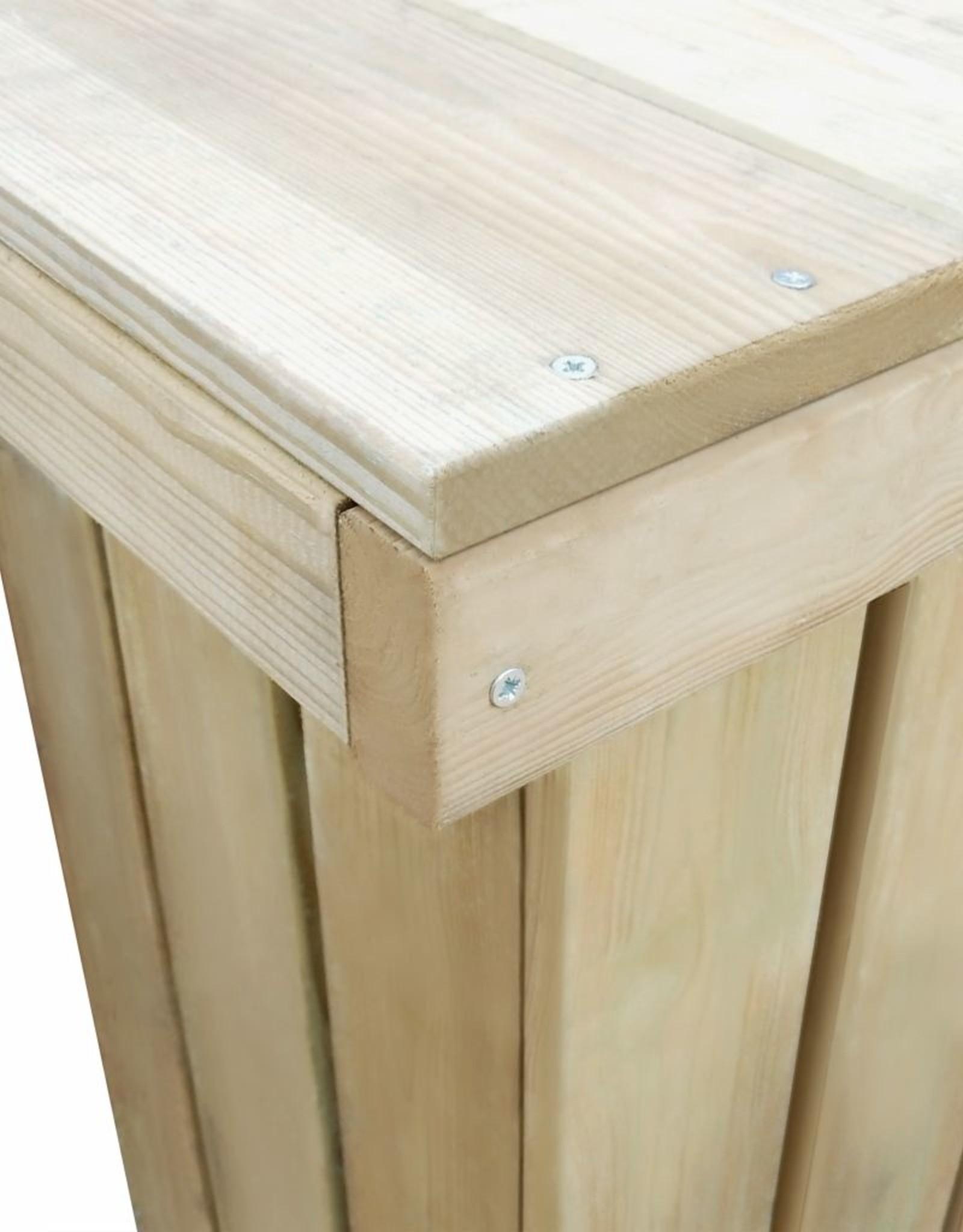 vidaXL 4-delige Tuinset geïmpregneerd grenenhout