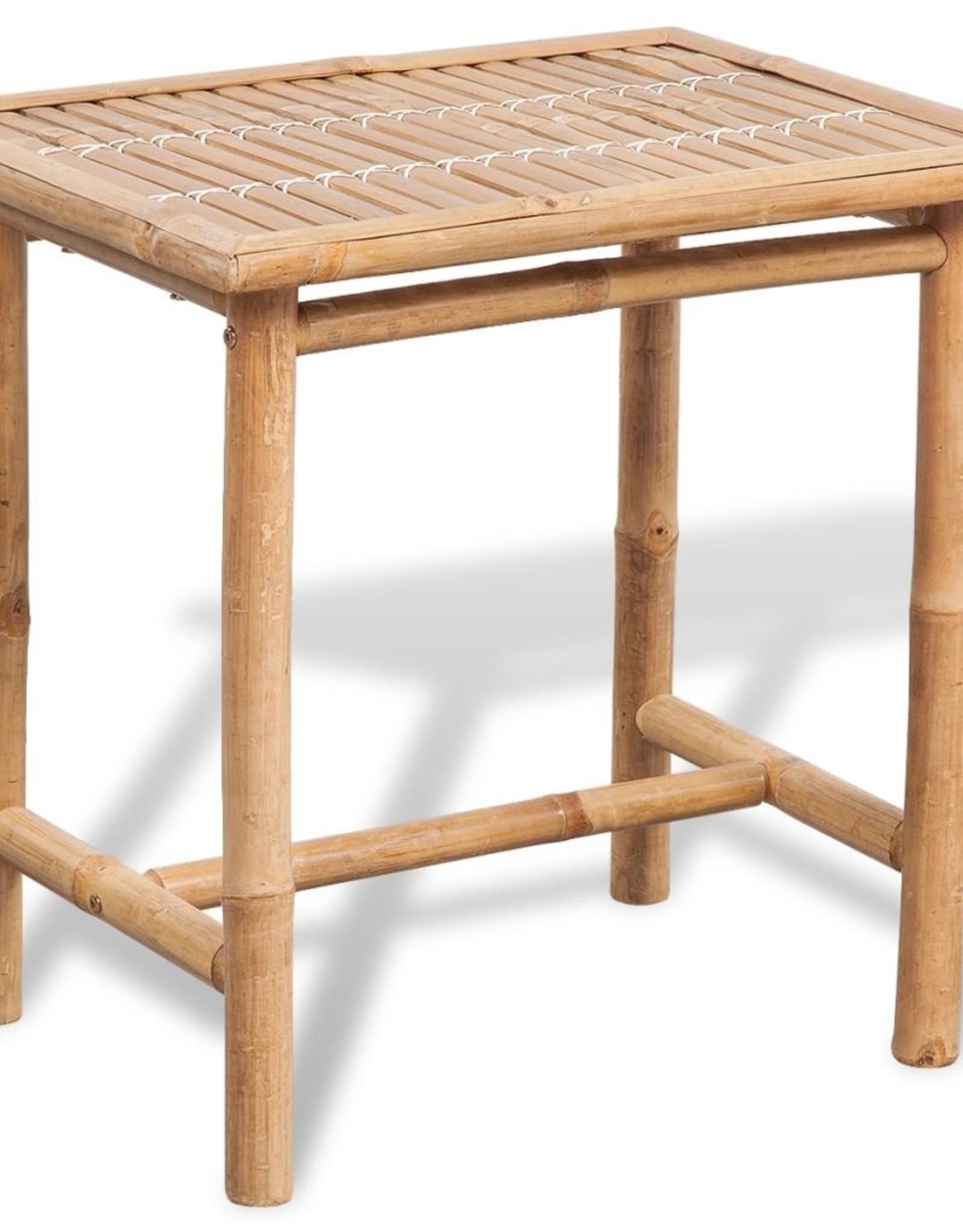 vidaXL 3-delige Bistroset met kussens bamboe