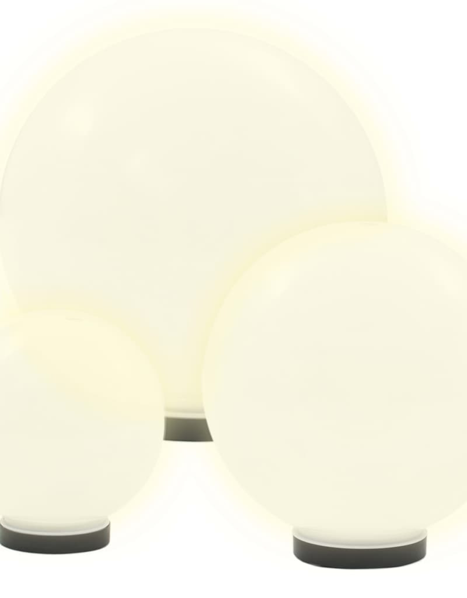 vidaXL 6-delige LED-bollampenset rond 20/30/40 cm PMMA