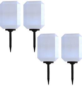 vidaXL Solarlampen 4 st LED 30 cm wit