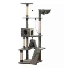 vidaXL Kattenkrabpaal Jaapie 191 cm (grijs)