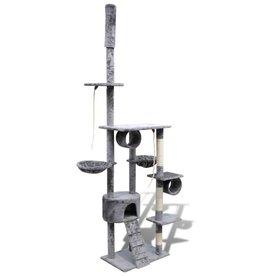 vidaXL Kattenkrabpaal Tommie 220/240 cm 1 huisje (grijs)